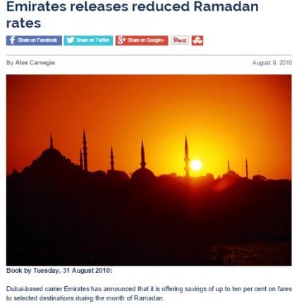 Emirates releases reduced Ramadan rates