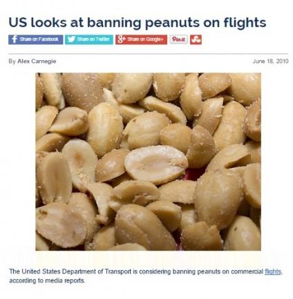 US looks at banning peanuts on flights