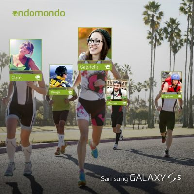 """Always run with your friends on the Endomondo app. Now you can get a free Pro account with the Galaxy S5."""